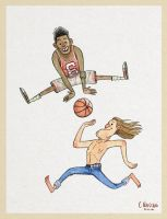 Basket players characters by ClaudioNaccari
