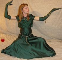 Danielle Green Dress Gloves 4 by FantasyStock