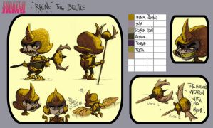 OC::Rhino the Beetle by KetsuoTategami