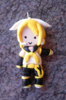 Vocaloid : Rin Kagamine in Polymer Clay by Code-hearts