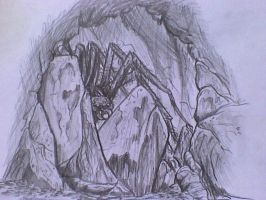Shelob awaits by SkekLa