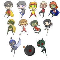 Young Justice chibi dump by fireykaigurl