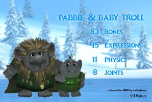 MMD Pabbie and Baby Troll DL by animefancy-mmd