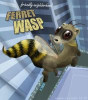 ferret wasp - concept 2 of 3 by EmeraldEmpress