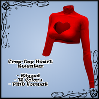 Crop-Top Heart Sweater DOWNLOAD by Reseliee