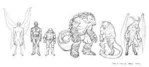 Tales of TMNT lineup by dogmeatsausage