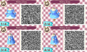 AC NL QR Code Wintry dress by Alilali