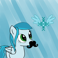 Iceglide -  Can I keep the mustache? by DaScottishBrony