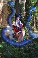 Ahri~Fox Fire. by Dantedart