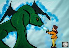 Boy and Dragon by ENTITY-JS