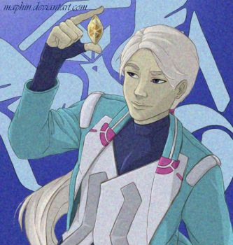 POKEMON GO - Blanche with a Fire Stone by Maphin