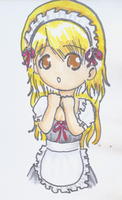 Chibi Maid by CloudRider99
