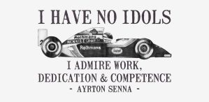 I Have No Idols - Ayrton Senna Quote by onecuriouschip