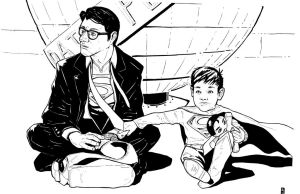 Commission Clark Kent and son by mooseace