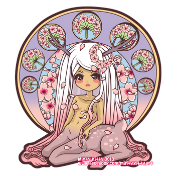 Cherry Blossom Princess by Minty-Kitty-Art