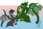 .: Com Bundle Flat : Two Dragons and a Fish :. by AstaAura