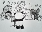Panda Choir Conductor by MelodicInterval