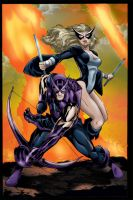 Hawkeye and Mockingbird by MarcBourcier