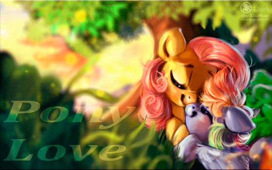 Sketch - FlutterShy and Rainbow Dash - Pony love by LuleMT