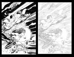 Jim Lee pencils and Richard Friend inks TRINITY by Blasterkid