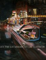 Painting The Town (73 Mustang Painting) by FastLaneIllustration