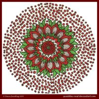 Red Beauty Mandala by Quaddles-Roost