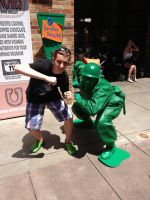 Myself with The Toy Story Solider by Mike-The-Winner
