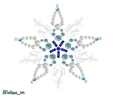 snowflake from pearls and germs png by Melissa-tm