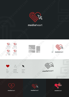 Mediaheart logotype by gbindis