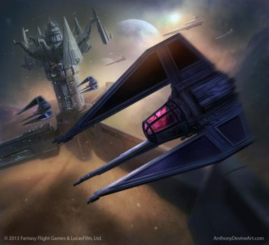 Shadow Squadron Pilot by AnthonyDevine
