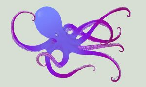 Purple Octopus by Caralista