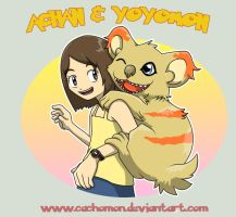 Achan and Yoyomon by Cachomon