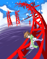 Powerline in sea by Jump-Button