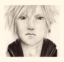 Cloud Strife Portrait by Tamaska