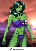 She Hulk 7 by Garrett Blair by Mythical-Mommy