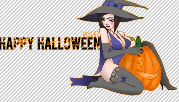 WoW: Halloween Violet by neofirefly