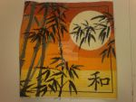 Oriental Sunset cross stitch by BlueFeatherArchangel