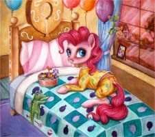 Traditional Art - Pinkie in a Pajama by Dirlcutto
