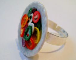 Dish of Salad Ring by MarzapanArt