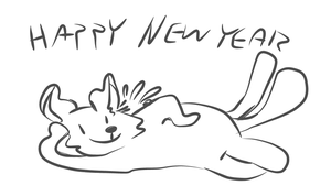 Happy New Year From Saint Purrtrick by TheTreeDragonBiscuit