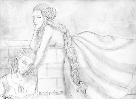 Loki and Sigyn by ChezzaLee