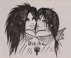 itachi and madara by NakagoinKuto
