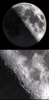 Moon 3D (Photo realistic render in 3DSMAX) by FeodorIvaneev