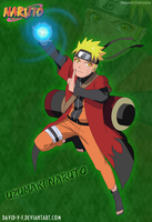 Naruto Uzumaki in Sage Mode by David-Y-F
