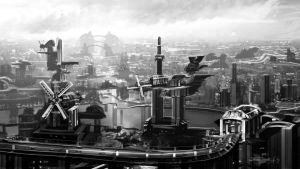 Drakopolis Rough Greyscale Concept by Brollonks