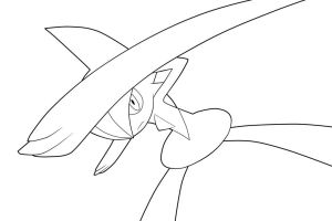 Gallade. :Lineart: by moxie2D