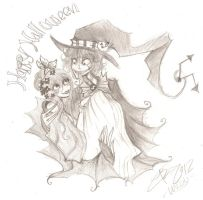 Happy early Halloween from clocks :3 -sketch- by Peepoland