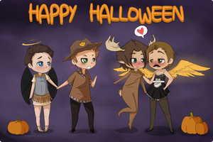 2SPOOKY SPN HALLOWEEN by phillipant