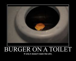 Smosh Burger on Toilet Motivator by htfman114