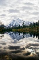 mt shuksan picture reflection by NWunseen